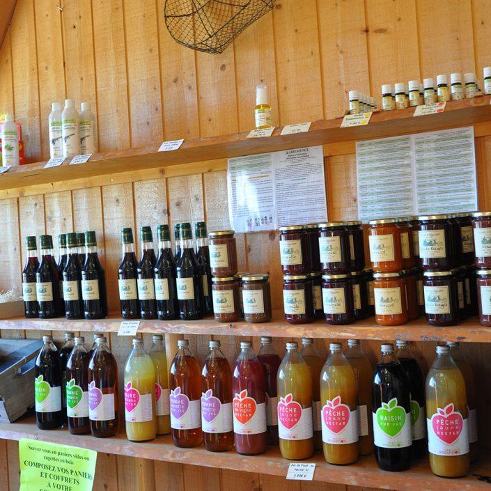 la boutique de la miellerie grange aux abeilles estivareilles